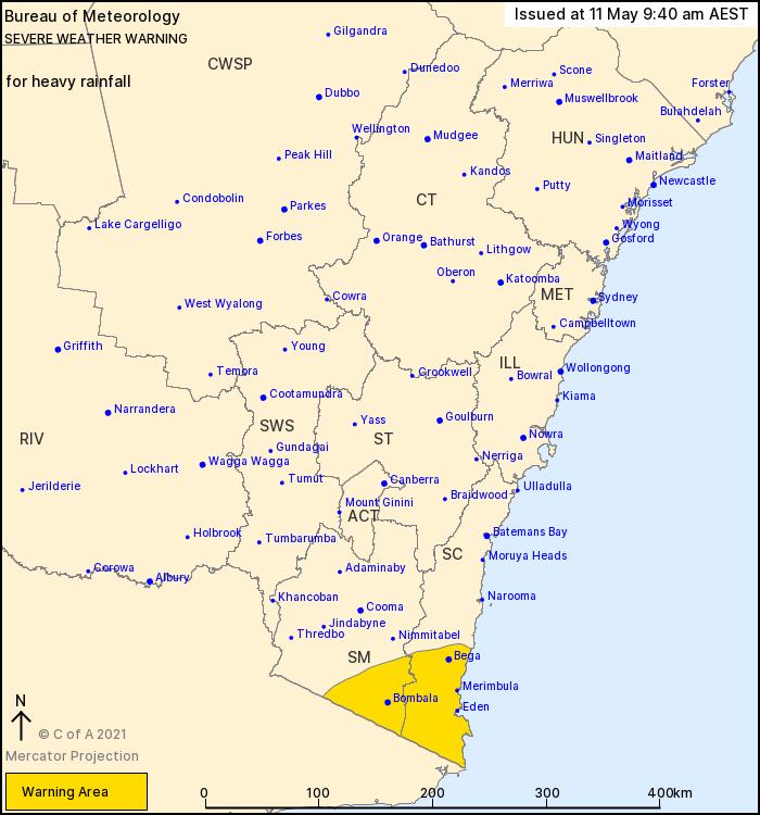 NSW Warning May 11